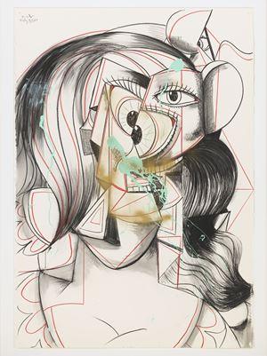 Portrait of Virginia Woolf by George Condo contemporary artwork