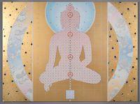 Pendulum of Autonomy by Gonkar Gyatso contemporary artwork painting, mixed media