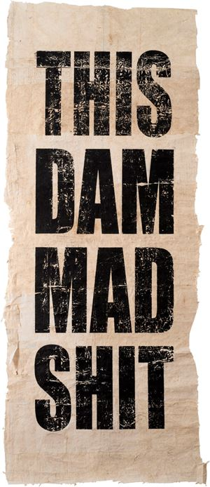 Untitled (THIS/DAM/MAD/SHIT) by Newell Harry contemporary artwork