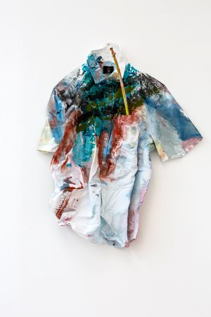 The Shirt Says I Feel by Hayley Tompkins contemporary artwork sculpture