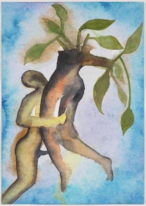 A Story Well Told XV by Francesco Clemente contemporary artwork