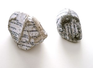 Diptych: The Betrothal of Cavehill (a Poem by Seamus Heaney) by Stefana McClure contemporary artwork