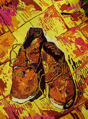 Pictures of flowers: Shoes by Vik Muniz contemporary artwork