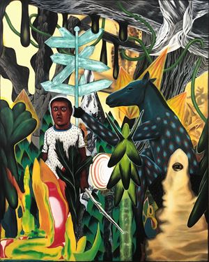 Lost in the Woods by Rodel Tapaya contemporary artwork