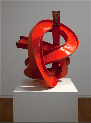 Red I-beam Knot by James Angus contemporary artwork