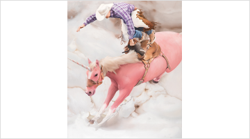 Contemporary art exhibition, Will Cotton, The Taming of the Cowboy at Templon, Brussels