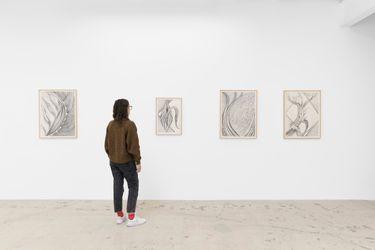 Exhibition view: Faith Wilding, Fossils 2, Anat Ebgi, 6150 Wilshire Blvd, Los Angeles (2 October–20 November 2021).CourtesyAnat Ebgi.