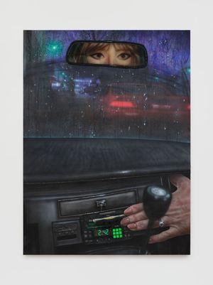 Nightcall by Trey Abdella contemporary artwork painting, mixed media