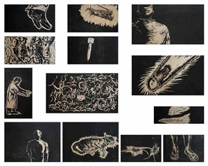 Some actions which haven't been defined yet in the revolution by Sun Xun contemporary artwork