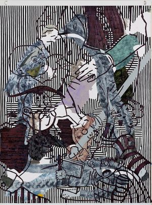 Death Painting (Knowledge transfer ghoul) by Helen Johnson contemporary artwork