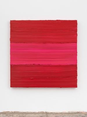 Untitled (Ideal Rose-Ruby Lake) by Jason Martin contemporary artwork