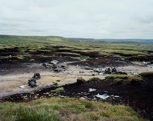 Crash site of B-29 photographic reconnaissance plane used in 1946 at Bikini Atoll in the first post-WWII atomic bomb tests, Peak District, England by Tomoko Yoneda contemporary artwork