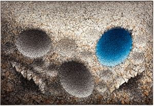 Aggregation 11 - MY035 Blue by Chun Kwang Young contemporary artwork