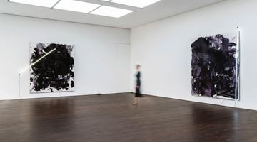Contemporary art exhibition, Mary Weatherford, Train Yards at Gagosian, Grosvenor Hill, London, United Kingdom