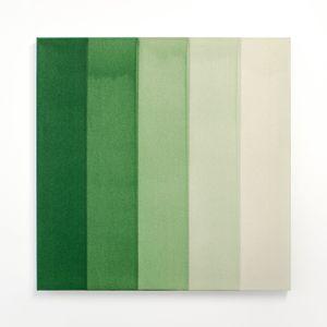 Green Watercolour Painting by Simon Morris contemporary artwork