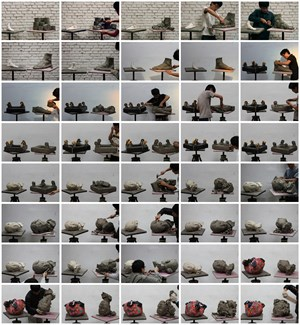 Narrative by a Pile of Clay 81-120 by Hu Qingyan contemporary artwork