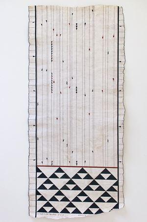 Te Tīpare o Hinetakurua, The Crown of the Winter Goddess. (Winter Solstice, 21.06.2020) by Nikau Hindin contemporary artwork textile