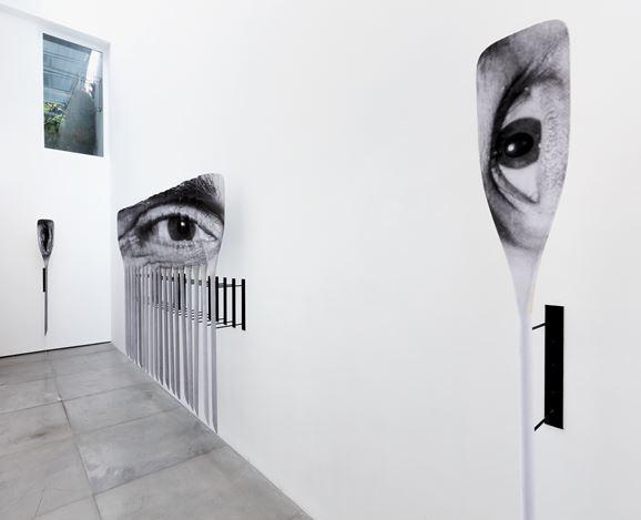 Exhibition view: JR,Patamar, Galeria Nara Roesler, Rio de Janeiro (22 November 2019–21 February 2020). Courtesy the artist and Galeria Nara Roesler. Photo: Pat Kilgore.