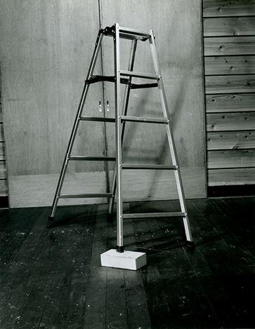 Jiro Takamatsu, Compound (stepladder and brick) (1971).© The Estate of Jiro Takamatsu, Courtesy of Yumiko Chiba Associates.