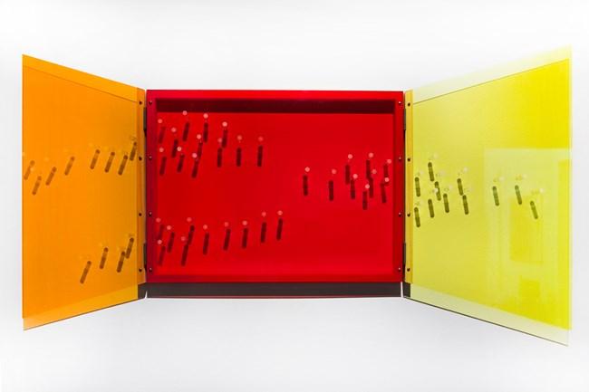 Perspex Window: orange, red yellow by Tracy Sarroff contemporary artwork