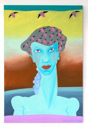 Beret of Tongues by Barbara Nessim contemporary artwork