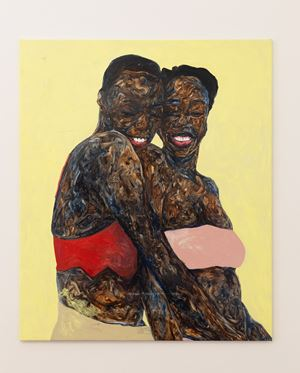 Libby and D-Lee by Amoako Boafo contemporary artwork