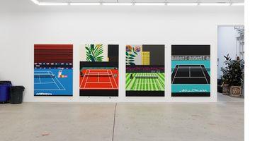 Contemporary art exhibition, Jonas Wood, Four Tennis Courts at Gagosian, 980 Madison Avenue, New York