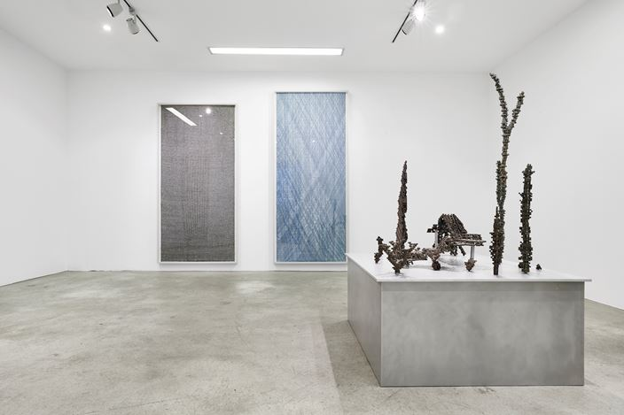 Exhibition view:Nicolas Baier and Patrick Coutu, CHOI&LAGER Gallery, Cologne (16 November 2018–24 February 2019). Courtesy the artists, CHOI&LAGER Gallery and DIVISION Gallery. Photo: Mareike Tocha.
