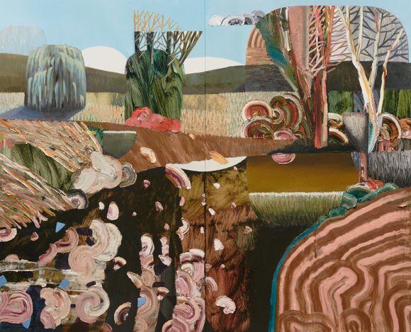 Guy Maestri, Berkele's creek (2021). Oil on linen, 200 x 240 cm. Courtesy of the artist and Yavuz Gallery.