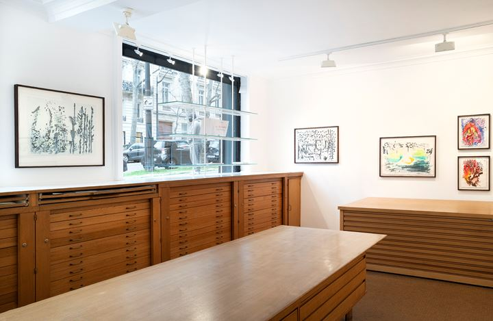 Exhibition view: Simone Fattal, Au bord du Barada, Lelong & Co. Paris, Rue de Téhéran, Paris (14 January–27 February 2021). Courtesy Galerie Lelong & Co. Paris.