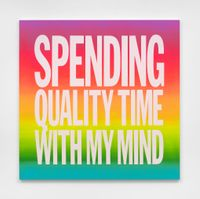 SPENDING QUALITY TIME WITH MY MIND by John Giorno contemporary artwork painting