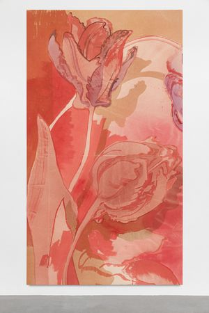 Spring of past and present (April tulip, left) by Matthew Lutz-Kinoy contemporary artwork