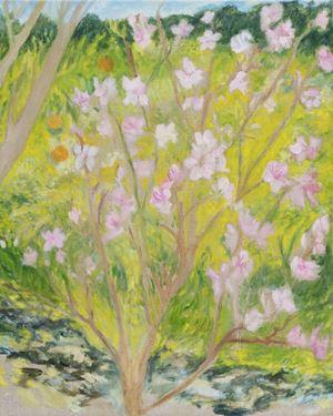 Peach Blossom with the Mandarins by Star Gossage contemporary artwork