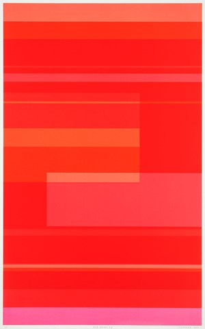 Red Print 11B by Kate Shepherd contemporary artwork