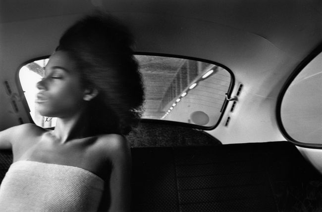 Ann Young in VW Bug, Manhattan by Chester Higgins contemporary artwork