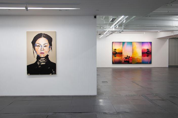 Ma Sibo,Out of Gravity(2020). Oil on canvas, 200 x 300 cm. Courtesy de Sarthe, Hong Kong.