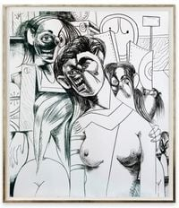 The Cabinet Maker's Family by George Condo contemporary artwork painting, works on paper, drawing