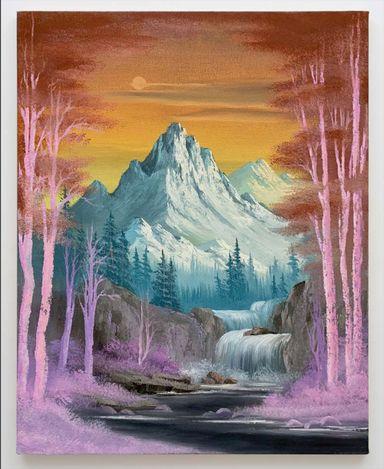 Neil Raitt, Grand Teton (Black River), 2021. Oil on canvas. 50 cm x 40 cm. Courtesy Anat Ebgi, Mid Wilshire/Culver City.