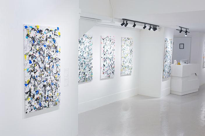 Exhibition view: Danhôo, Calligraphic Abstraction, A2Z Art Gallery, Hong Kong (16 November–14 December 2019). CourtesyA2Z Art Gallery.