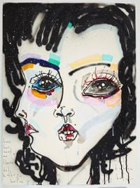 have her meet me there by Del Kathryn Barton contemporary artwork mixed media