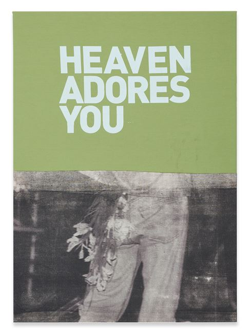 Untitled (Heaven adores you) by Walter Dahn contemporary artwork