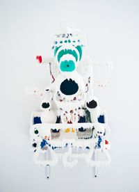 White Discharge (Built-up Objects #37) by Teppei Kaneuji contemporary artwork mixed media