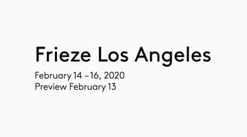 Contemporary art exhibition, Frieze Los Angeles 2020 at Thomas Dane Gallery, London