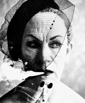 William Klein/ Smoke and Veil, Paris (Vogue 1958) by Sandro Miller contemporary artwork