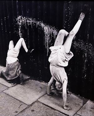 Handstand, Southam Street, London by Roger Mayne contemporary artwork