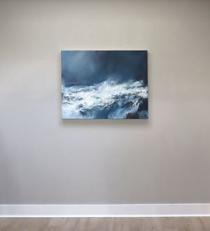 Sea state force 9 - Waves toppling and tumbling by Janette Kerr contemporary artwork