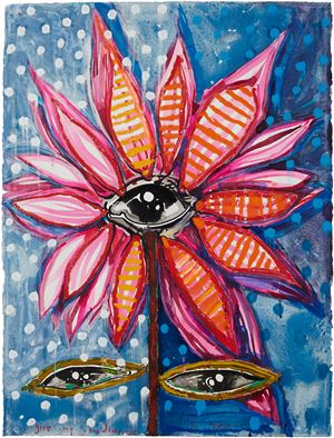 i give my radiance to you by Del Kathryn Barton contemporary artwork