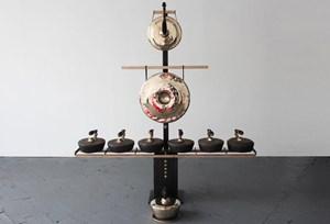 Gamelatron Segitiga in Bronze by Aaron Taylor Kuffner contemporary artwork