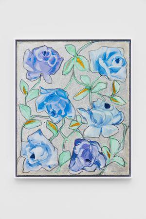 Blaue Rosen [Blue Roses] by Renate Bertlmann contemporary artwork