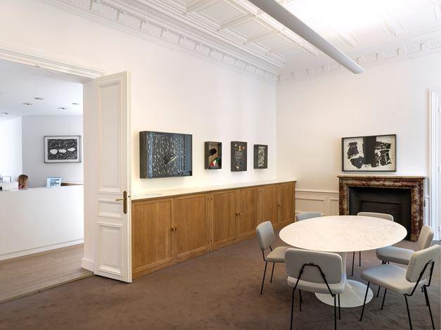 Exhibition view: Jannis Kounellis, Boîtes. 1989 – 2015, GalerieLelong & Co., Paris(26 May–13 July 2018). Courtesy Galerie Lelong & Co, Paris.
